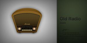 Old radio icon by AndexDesign