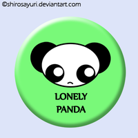 Lonely Panda Badge by Shirosayuri