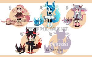 AUCTION ADOPTABLES OPEN! (paypal and points) by Taikoubou-Metal
