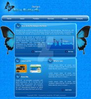 Blue Butterfly - Web Design by Areeb89