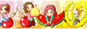 Fruits and friends by laupicero