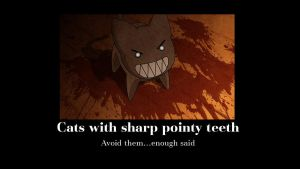 cats with sharp pointy teeth by xianghua4kilik