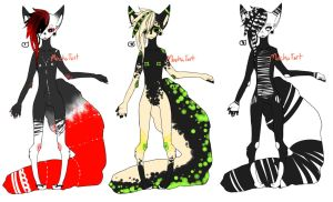 Anthro Adoptables Set 1 by MochaTart