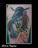 My Geisha Tattoo (In Progress) by hkane5