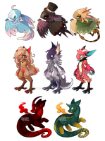 [YCH] Pixel Set 8 by dracooties