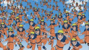 Naruto's Multi Shadow Clones and Rasengans by weissdrum