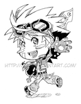 Chibi Swordsman Turo by GH07