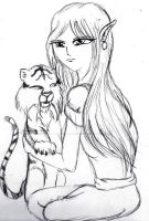 The Tiger and the Huntress by Amazair