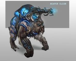 Reaper Elcor by AndrewRyanArt