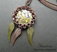 Winged Steampunk Pendant by Pastely