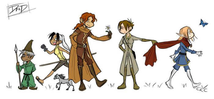 DnD - Party Lineup by Inonibird