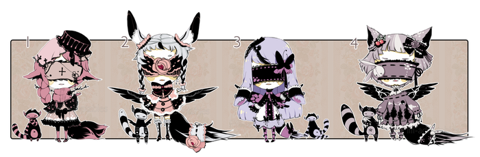 [CLOSED] ADOPT AUCTION 53 - Blind Lace+ EXTRA by Piffi-adoptables