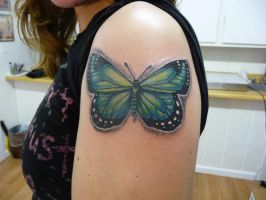 green butterfly by hoviemon