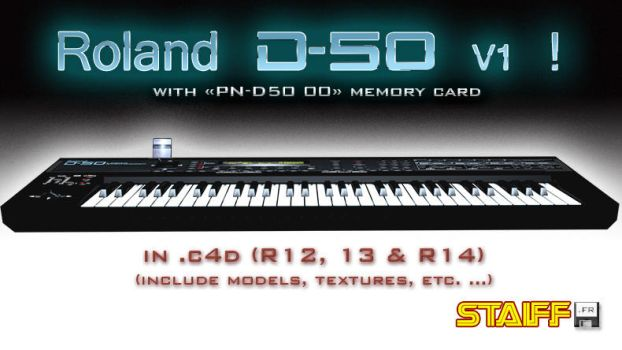 Roland D-50 V1 3D model by staiff