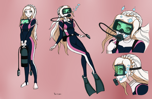 Sonia Nevermind Scuba - Color Commission by The-Sakura-Samurai