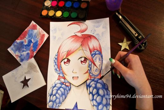 SF-A2 Miki watercolors by Marryhime94