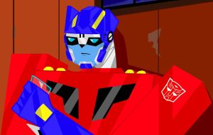 TFA Optimus like 'can you shut up, sentinel?' by BeePrime93