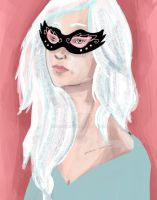 Girl in Mask by Sacari