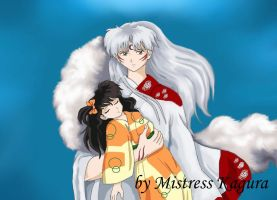 Rin and Sesshomaru by Mistress-Kagura