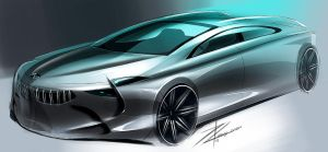 BMW concept sketch by TonyWcK