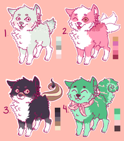Dog Adopts [1/4 OPEN] by redroseadopts
