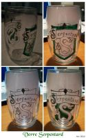 Slytherin glass by OliviaWinona