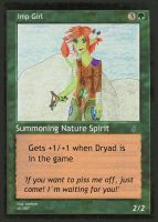 Imp Girl magic Card the second by konfuse