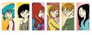 The girls of Scott Pilgrim by TerryBlas