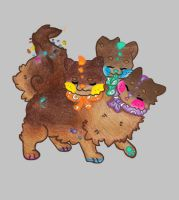 Cosmic Brownie Sushi Dog DTA co-own by The-Shakesperett