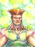 Sketchcard SFEX Guile by fedde