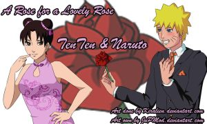 NaruTen: A Rose for a Lovely Rose Wallpaper by JuPMod