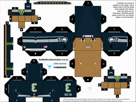 Russell Wilson Seahawks Cubee by etchings13