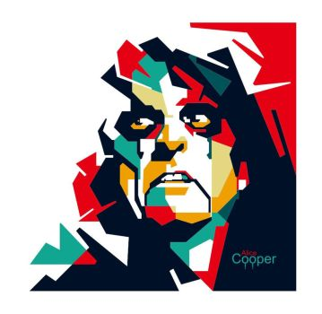 Alice cooper in WPAP by EDHO by edhoartwork