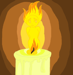 Candle girl by UndertakerisEpic
