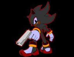 Shadow with red glow by goaferboy