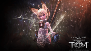 TERA online Cute Elin Lancer Wallpaper by Nyusagie
