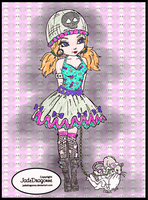 Gothic Lolita colored by Catsie95