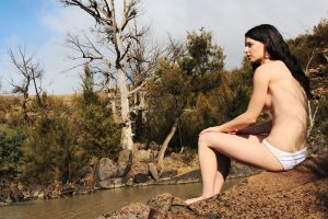 Emma on the rocks 1 by wildplaces