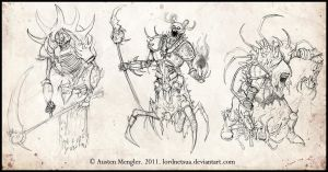 Skeletal Mage Concepts by LordNetsua