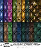 Amazing dragon scales stock by Nameda by Nameda