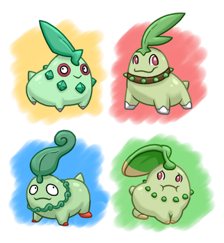 PokeVariant Contest: Chikoritas by Jakzketch