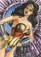 WONDER WOMAN PERSONAL SKETCH CARD by AHochrein2010