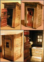 Popsicle Stick Outhouse by Frohickey