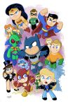 Justice League Chibi by toonbaboon