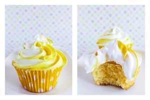 Lemon Cupcakes with Dominican Frosting by dabbisch