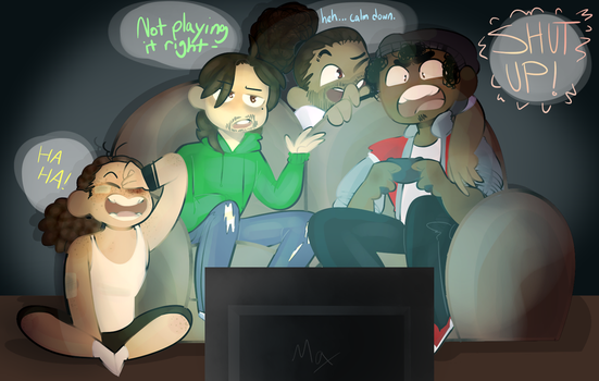 Hamilsquad Gaming by NoodleDoesDoodles