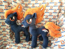 My Little Pony Denver Broncos Plushies by CINNAMON-STITCH