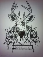 Oh Deer Tattoo Flash by NightsQueen