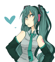 Miku :speedpaint: by sonicat62