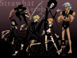 Strawhat Agents by SybLaTortue